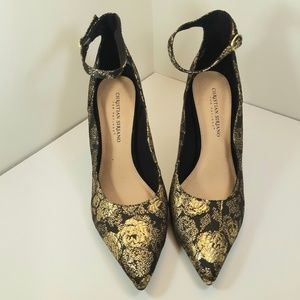 Perfect Gold/ Black Christian Siriano Dress Shoes